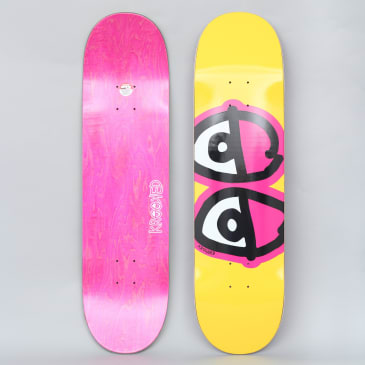 Krooked 8.25 Team Eyes Skateboard Deck Yellow