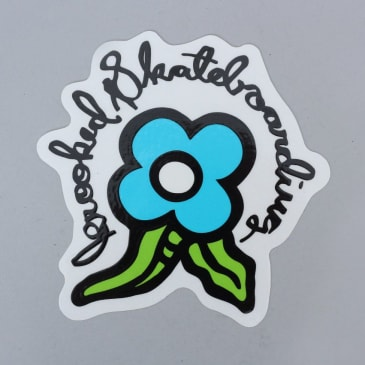 Krooked Bloom Sticker Blue