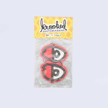 Krooked Eyes Air Freshener Red / Black / Cherry Scent