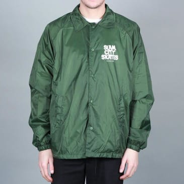 Slam City Skates London Coach Jacket Green