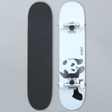 Enjoi 6.75 Panda Soft Top Youth Complete Skateboard White