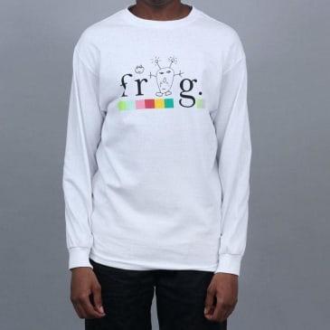 Frog Colourline Longsleeve T-Shirt White