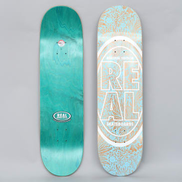 Real 8.25 Stacked Oval Floral Deck Blue