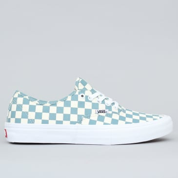 Vans Authentic Pro Shoes (Checkerboard) Smoke Blue