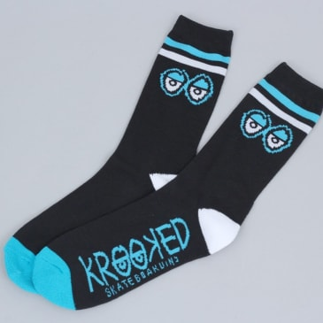 Krooked Big Eyes Socks Black / White / Blue