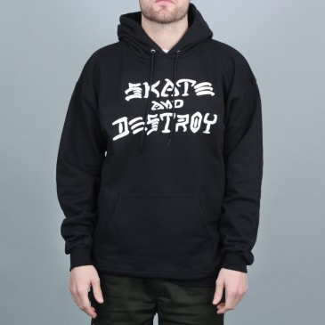 Thrasher Skate & Destroy Hoody Black