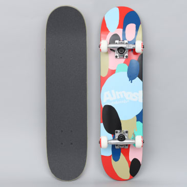 Almost 7 Spotted Youth FP Complete Skateboard Red