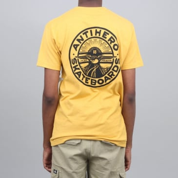 Anti Hero Stay Ready T-Shirt Mustard / Black