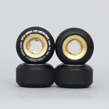 Ricta 53mm Nyjah Chrome Core Slim 99A Skateboard Wheels Black Gold