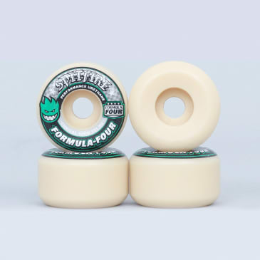 Spitfire 52mm 101DU Formula Four Conical Wheels Natural / Green Print