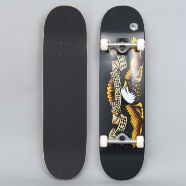Anti Hero 8.25 Classic Eagle X-Large Complete Skateboard Black