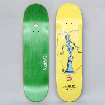 Krooked 8.5 Worrest Buck Pro Skateboard Deck Yellow