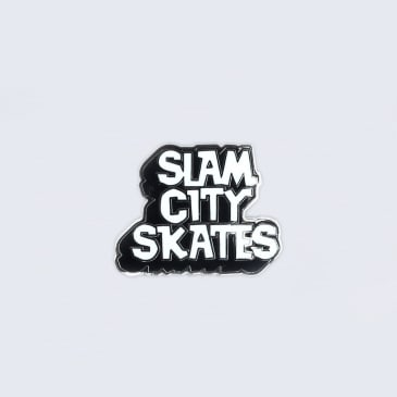 Slam City Skates Enamel Pin Badge Black / White