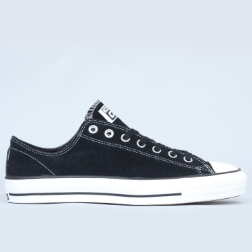 Converse CTAS Pro Shoes OX Black / Black / White Suede