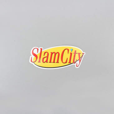 Slam City Skates Costanza Sticker Yellow