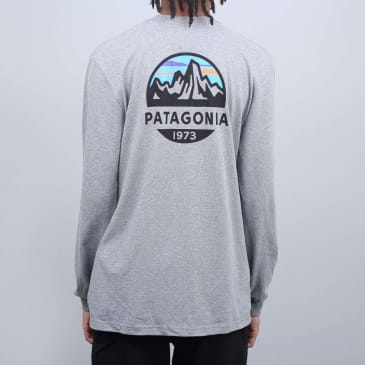 Patagonia Fitz Roy Scope Responsibili Longsleeve T-Shirt Gravel Heather