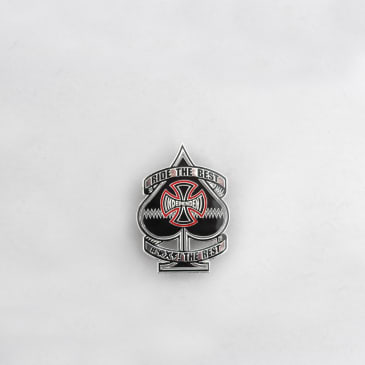 Independent Ante Pin Badge Black / Red