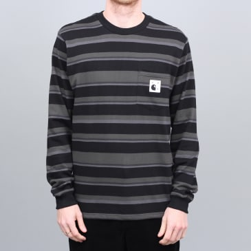 Pop Trading X Carhartt Longsleeve Pocket T-Shirt Black