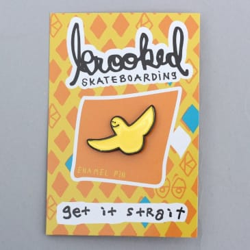 Krooked OG Bird Lapel Pin Yellow / Black