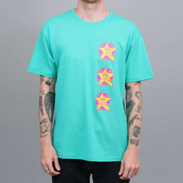 Slam City Skates Swank Stars T-Shirt Pool Green