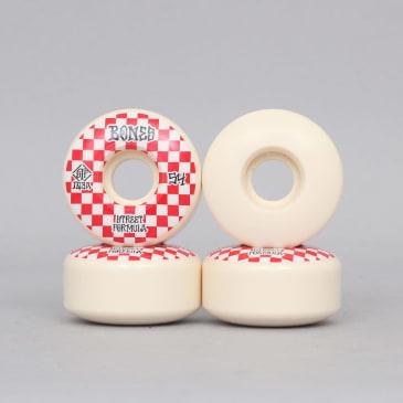 Bones 54mm 103A Patterns STF V3 Slims Skateboard Wheels White / Red