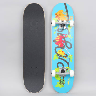 Enjoi 7.25 Intertwinded FP Youth Complete Skateboard Blue