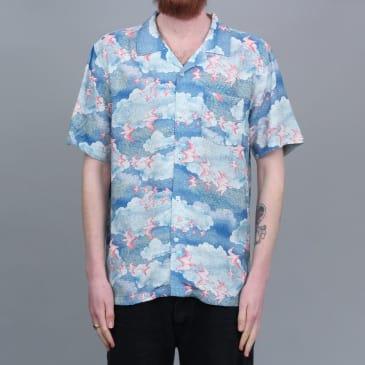Stussy Cloud And Birds Shirt Blue