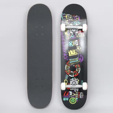 Almost 7.25 Aztecian Soft Wheels Youth Complate Skateboard Black