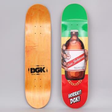 DGK 7.9 Boo Corner Store Skateboard Deck Red / Yellow / Green