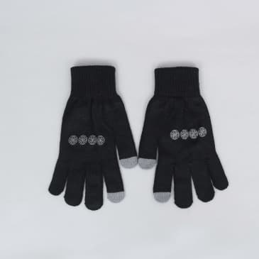 Independent Chain Cross Gloves Black