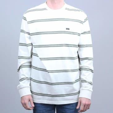 Brixton Hilt Washed Longsleeve Pocket T-Shirt Off White Pine