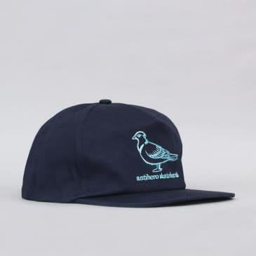 Anti Hero Lil Pigeon Snapback Cap Navy / Light Blue