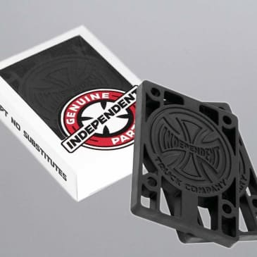 Independent 1/4 inch Risers (pack of 2) Black