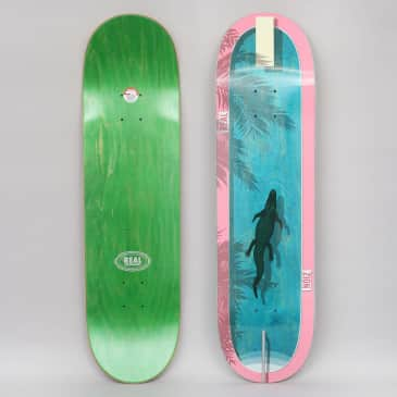 Real 8.5 Zion Dive In Skateboard Deck Blue / Pink