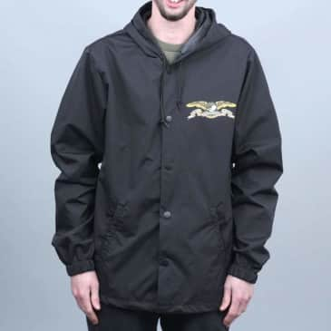 Anti Hero Stock Eagle Coaches Jacket Black