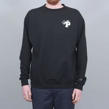 Pizza Watch Your Step Champion Crewneck Black