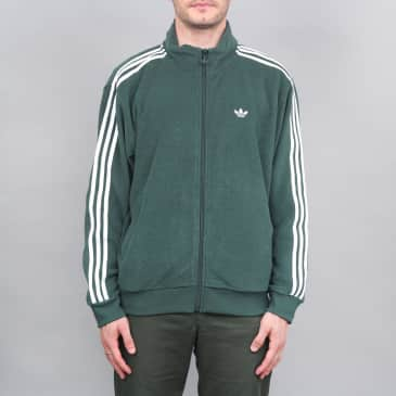 adidas Bouclette Jacket Mineral Green / White