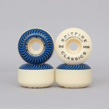Spitfire 56mm 97DU Formula Four Classics Wheels Natural / Blue