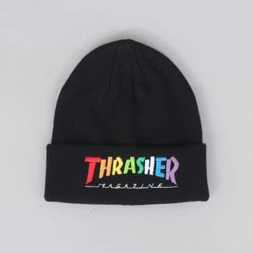 Thrasher Rainbow Mag Beanie Black