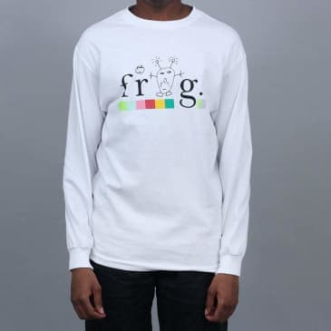 Frog Colourline Longsleeve T-Shirt White