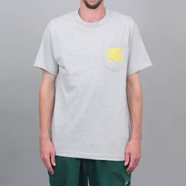 Anti Hero Reserve Pocket T-Shirt Ash Heather / Yellow