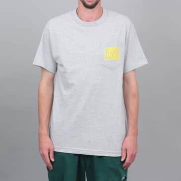 Anti Hero Reserve Pocket T-Shirt Ash Heather / Yellow