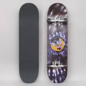 Globe 8 G1 Ablaze Complete Skateboard Black Dye