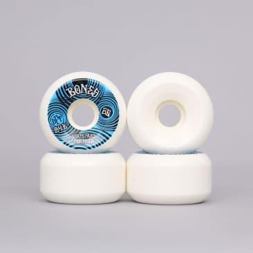 Bones 60mm 84B Ripples SPF P5 Sidecut Skateboard Wheels White / Blue