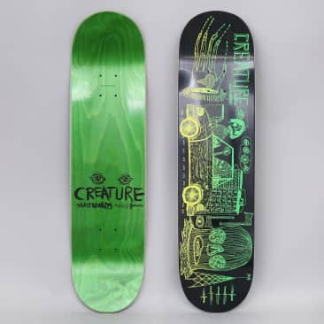 Creature 8 Magic Hands Small Skateboard Deck Black