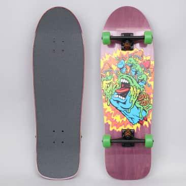 Santa Cruz 9.7 Toxic Hand Complete Skateboard Cruiser Purple
