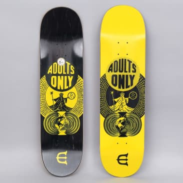 Evisen 8.38 Adults Only Skateboard Deck Yellow