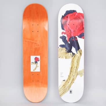 Girl 8.25 Griffin Gass Blooming Skateboard Deck White