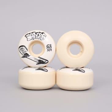 Bones 53mm 103A STF V1 Bonesless Standard Skateboard Wheels Natural