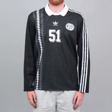 adidas Johnson Jersey Black / White / DGH Solid Grey